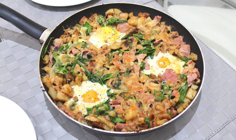 Egg, Bacon and Potato Hash