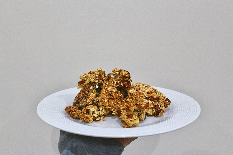 Superfood Goji Berry and Cashew Nut Flapjack Bites