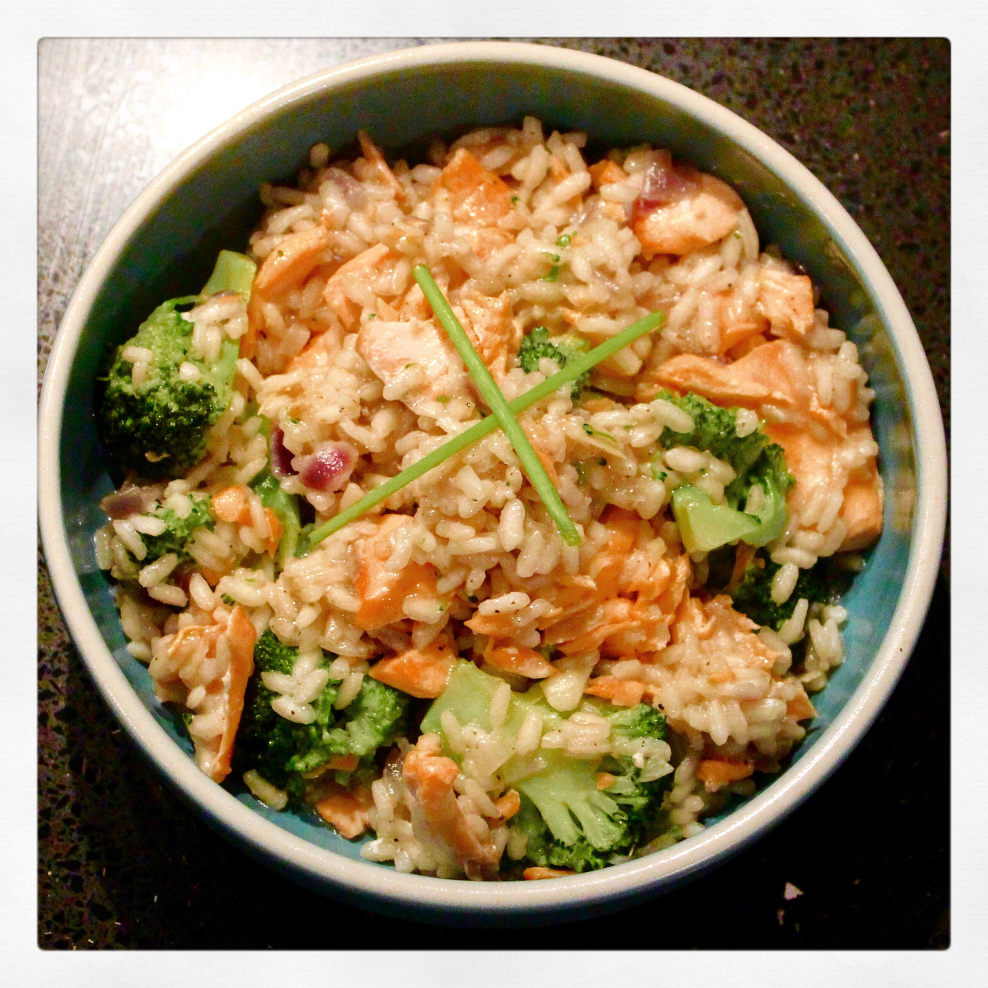Salmon and Broccoli Risotto